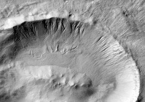 Debris flows in the Langtang Crater