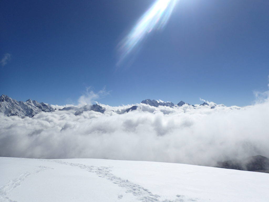 View from the high weather station above 5000 m