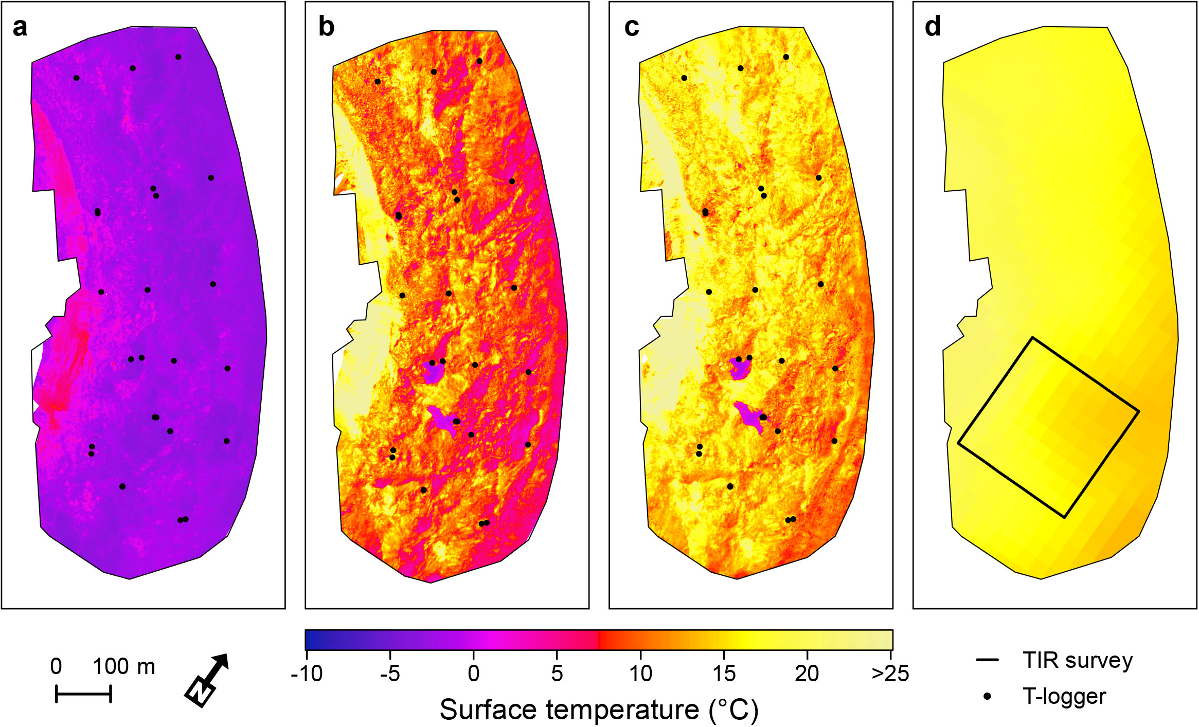 Mapping surface temperatures using a UAV - Mountain hydrology
